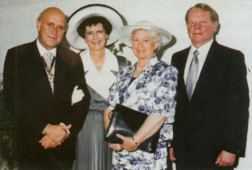 FW en Marike de Klerk en Marianne en Pieter Bingle