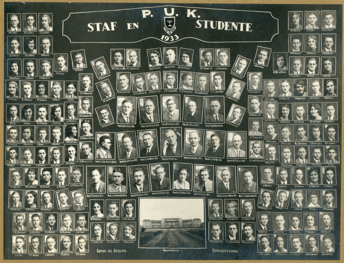 Staf_en_studente_van_die_PUK,_1933