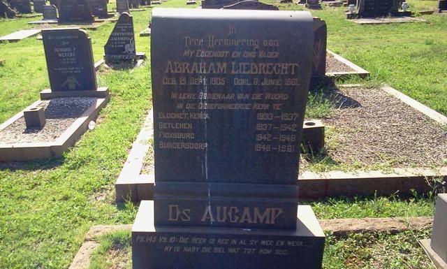 Ds AL Aucamp se graf in Pretoria, Dolf van deer Walt.jpg