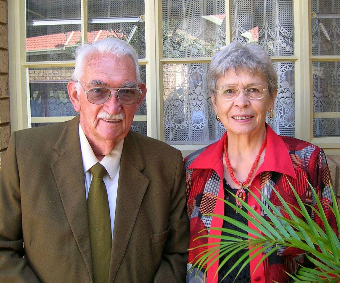 Ds Blackie en mev Alida Kruger op hul 50ste huweliksherdenking 2007.jpg