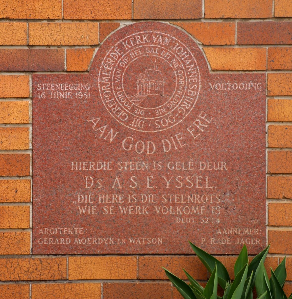 Hoeksteen Gereformeerde kerk Johannesburg-Oos