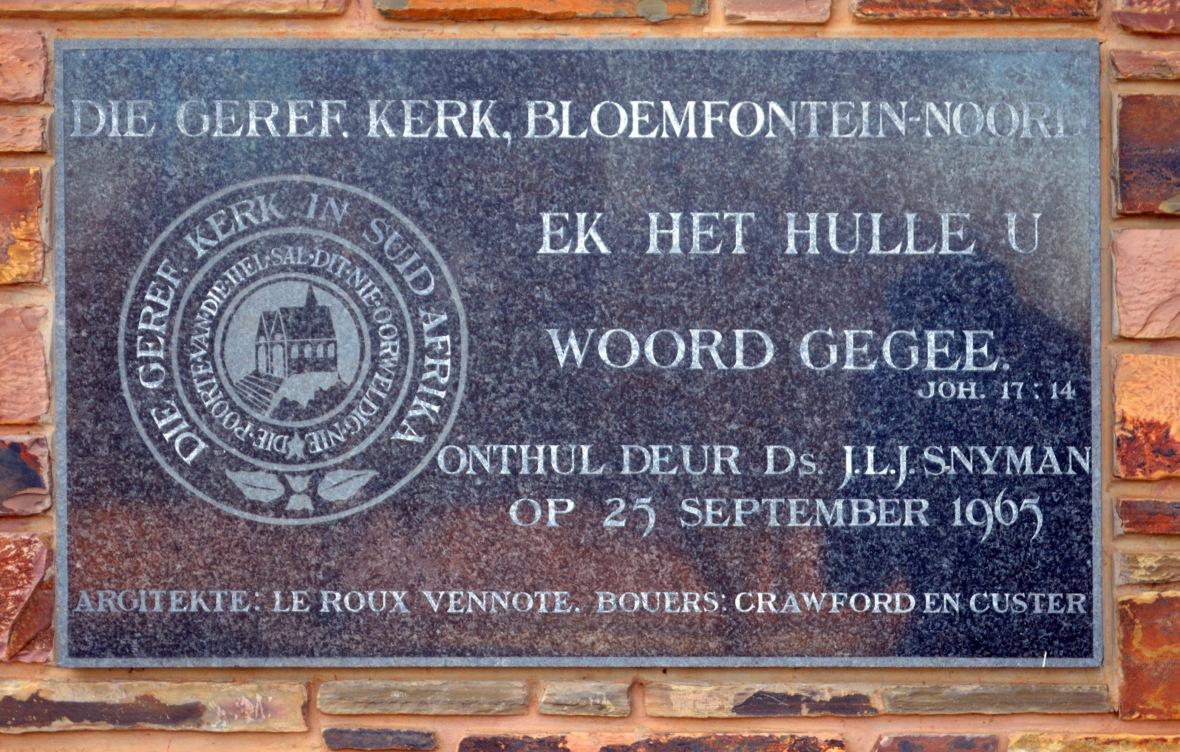 GK Bloemfontein-Noord se hoeksteen