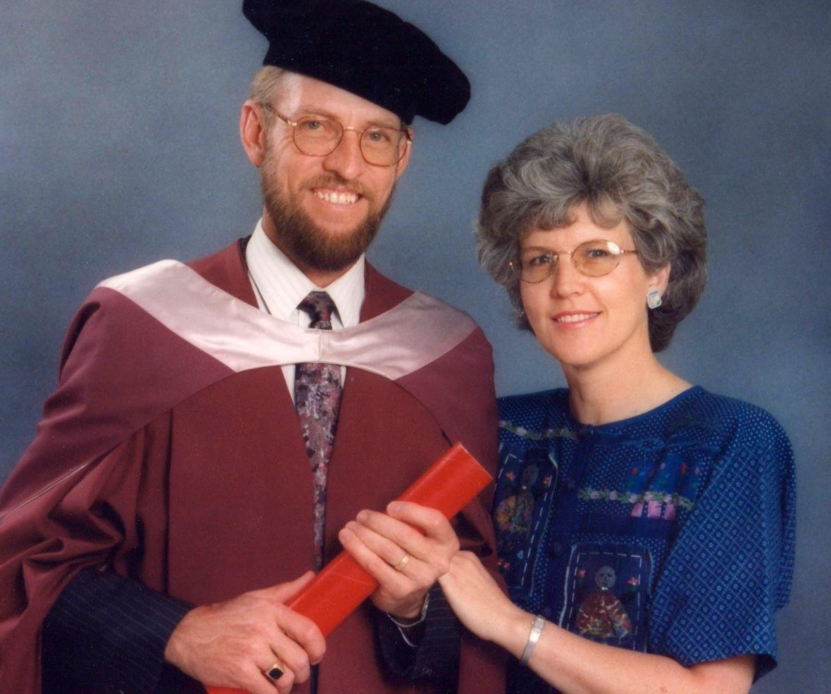 Callie Opperman ontvang sy doktorsgraad in 1985