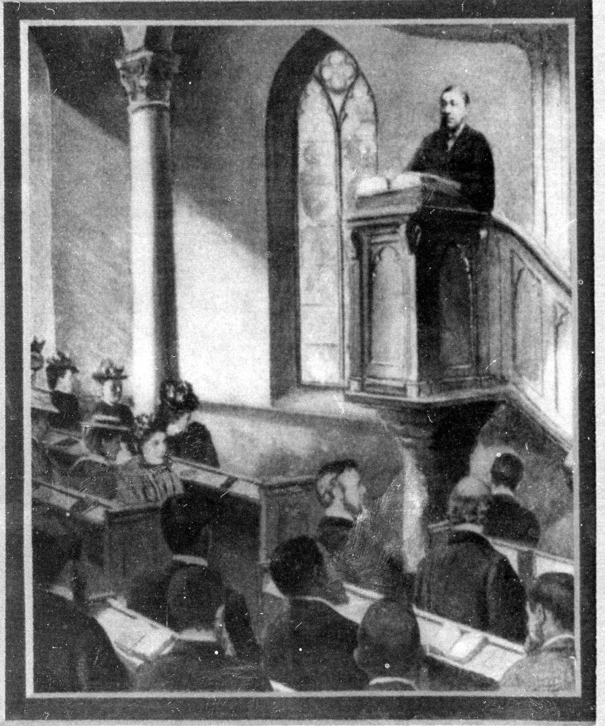 Kruger Paul preek in die Waenhuiskerk